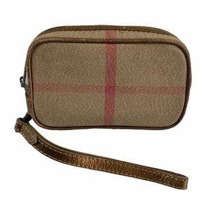 Burberry Vintage Small Camera Pouch Bag EUC